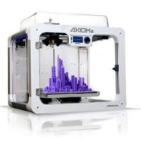 Airwolf 3D AXIOMe 3D printer with a completed purple object on the build platform