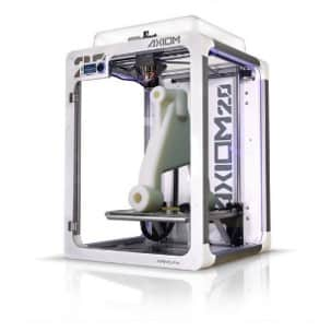 Airwolf 3D AXIOM 20 Single 3D printer with a white part on the build platform.