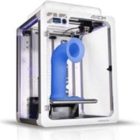 Aiwolf 3D AXIOM 20 3D printer with completed blue part