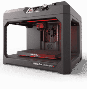 MakerBot Replicator+ 3D Printer with empty build platform