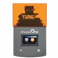 EnvisionTEC EnvisionOne 3D printer, which leverages cDLM (Continuous Digital Light Manufacturing) technology for continuous high speed printing.