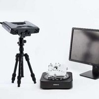 EinScan Pro 2X Plus 3D scanner with turntable; color option available.