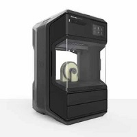 MakerBot Method 3D printer in black with a closed, heated chamber and heated build platform.